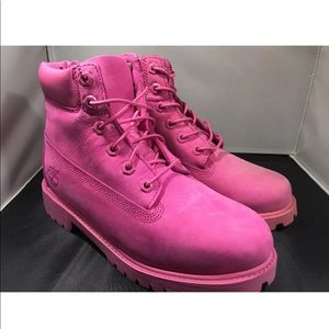 Brand New Pink Rose Timberland Boots